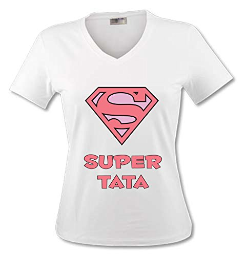 yonacrea-t-shirt-col-v-adulte-superman-rose-super-tata-m