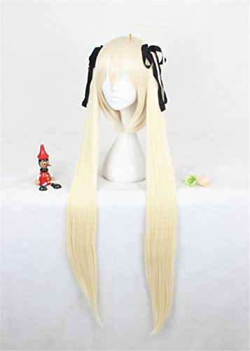 100cm Hochwertig Glatt Perücke mit Zwei Zöpfen Pony Cosplay Kostüm Karneval Mottoparties Anime (Ultron Avengers 2 Kostüme)
