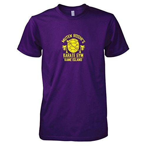 TEXLAB - DBZ: Karate Gym Kame Island - Herren T-Shirt, Größe XXL, violett
