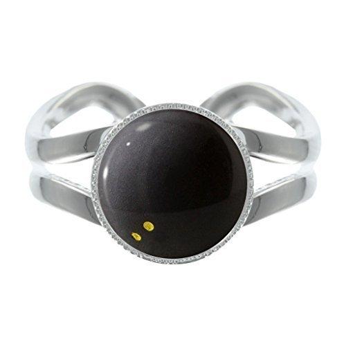 Squashball Design versilbert verstellbarer Ring