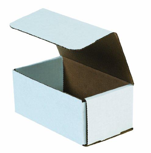 aviditi M752Wellpappe Versandbox, 17,8cm Länge x 12,7cm Breite x 5,1cm Höhe, Oyster Weiß (Bundle Of 50) (Wellpappe-versandboxen)