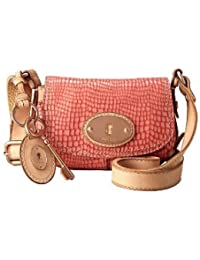 Sacs Cuir femmes FOSSIL WOMEN BAG W MADDOX EMBOSSED SMALL FLAP ROSE ZB4865652