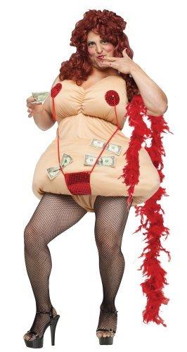 Fancy Me da Uomo Sexy Donna Spogliarellista Notte Addio al Celibato Divertente novità Costume Travestimento - Beige, Medium