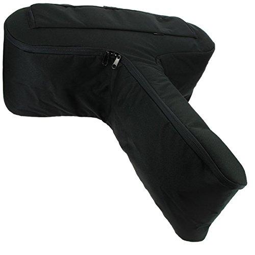 NGT Anglo Arms Große Gewehr Reißverschluss bis Schwarz Gepolsterte Armbrust-Tasche Halter + Seitentasche für Bolzen