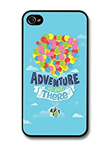 AMAF ? Accessories Adventure Up Disney Pixar Animation Movie Quote Balloons Fly case for iPhone 4 4S