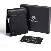 Portafoglio uomo DIAMOND piccolo con protezione RFID con Clip per contanti  Porta carte di credito 9a800288a2ef