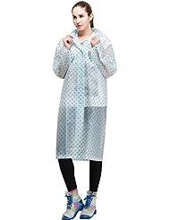 LvRao vistoso punto poncho con capucha para impermeable ropa capa de lluvia para abrigo mujer