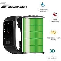 1c01723af8a939 ZEERKEER Montre-Bracelet, suivis de Fitness 0,96 électrocardiogramme PPG,  podomètre,