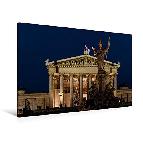 Deutsche Parlamentsgebäude (Calvendo Premium Textil-Leinwand 120 cm x 80 cm quer, Parlamentsgebäude Wien | Wandbild, Bild auf Keilrahmen, Fertigbild auf echter Leinwand, Leinwanddruck Orte Orte)