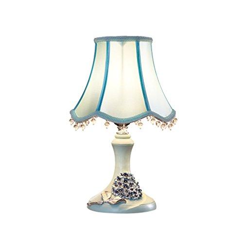 Handgefertigt Gebeizt (Nachttischlampe, Kristallanhänger Dekorative Landschaft Handgefertigte Skulptur Gebeizt Tischlampe, Druckknopfschalter E27 (Color : Green))