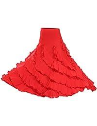 Fenteer Jupe flamenco de danse flamenca gitane andalouse adulte 5c855e9da5b