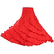 Homyl Traje de Baile de Mujer Accesorios para Salsa Tango Cha Cha Flamenco Cómodo