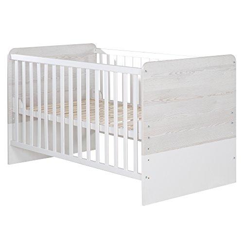 roba Kombi Kinderbett 'Alenja', 70x140 cm, Babybett, 3-fach höhenverstellbar, Baby- bzw. Kinderbett umbaubar zum Juniorbett