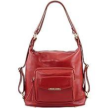 Leather Rojos Tuscany Bolsos es Amazon q4aw67R6