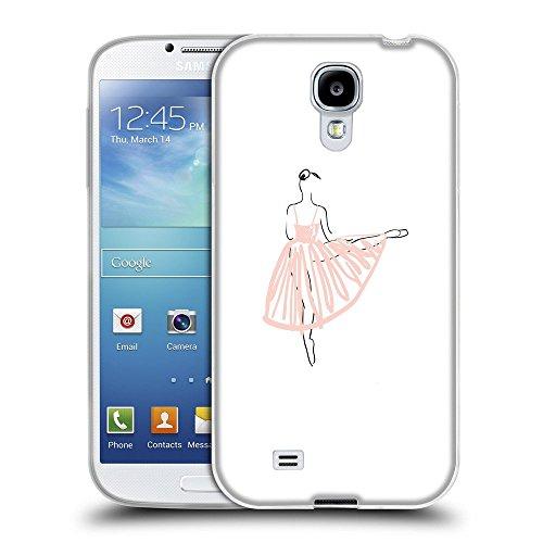 Super Galaxy TPU Gel Funda Carcasa Tapa Case Cover para // V00000660 Illustrazione vettoriale Ballerina // Samsung Galaxy S4 S IV SIV i9500