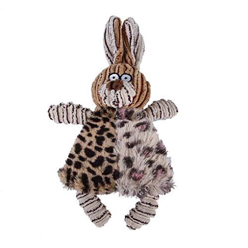 Aiming Chew Quietsche Pet quietschende Plüsch-Ton-Spielzeug-Tierform quietschende Haustier-Zahn-Molar Spielzeug (Zeigen Tier-ausstechformen)