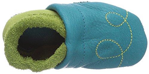 Pololo Biene Susi, Chaussons Doublé Chaud Mixte Enfant Turquoise (waikiki Pistazie 434)