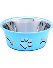 ELTON Paw & Bone Cutie Bowls Dog Bowls Export Quality Inside Stainless Steel Dog Food Bowl Feeder Bowls Pet Bowl for Feeding Dogs Cats and Pets