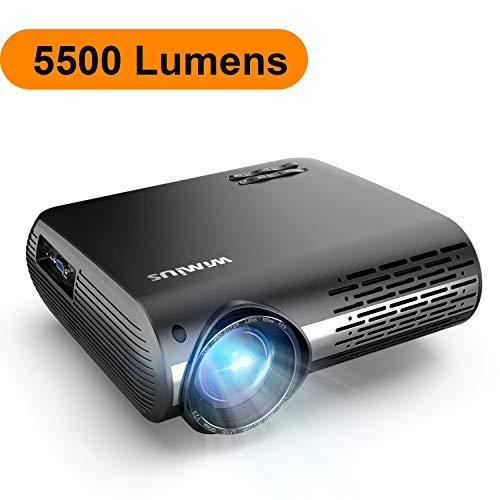 Vidéoprojecteur, WiMiUS 5500 Lumens Vidéo Projecteur Full HD 1920x1080P Natif Rétroprojecteur Supporte 4K avec Réglage Digital 70,000 Heures Projecteur LED pour Home Cinéma & Présentation d'affaires