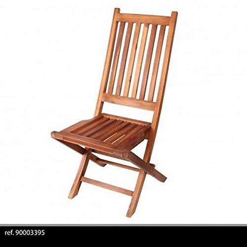 Chaise Teck Design Luxe Pliante Pliable Bois Jardin EXTÉRIEUR 100 X 45 CM