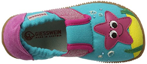 Giesswein Schönbach, Chaussons courts, non doublées fille Turquoise (595 / Capri)