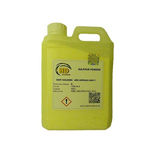 Fiore di zolfo in polvere puro al 99,99%, tanica in HDPE da 1,2 kg, se aggiunto al terreno o al substrato di coltura, permette di correggere rapidamente i livelli di pH