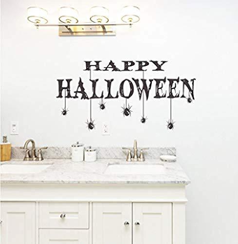 Wandaufkleber, Halloween Party Happy Halloween Wandbild Home Decor & Spider Wallpaper Aufkleber 71 * 116cm