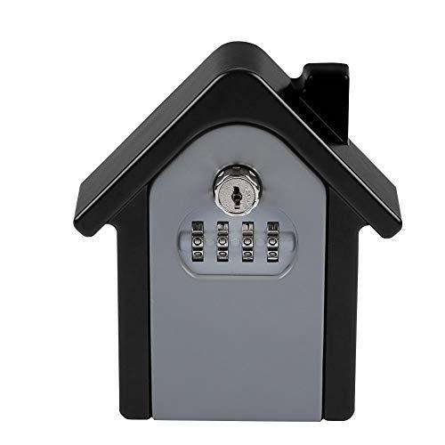 Caja de cerradura montada en la pared, caja de almacenamiento de clave de contraseña de 4 dígitos