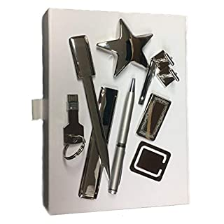 Select Gifts Box Set 8 USB Pen Star Cufflinks Post Allwin Family Crest