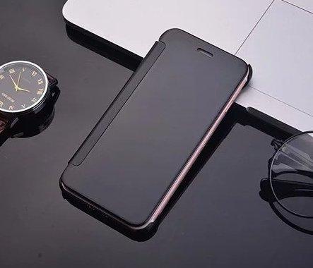 iPhone 7 Coque cas de secousse Pacyer® Housse protection Clip translucide Protection Case pour Apple iPhone 7 flip cover view Case PC Cover Noir