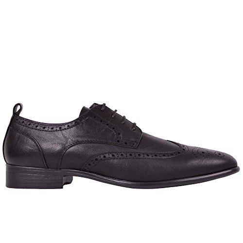 Herren Italienische Smart Office Festliches Kleid Spitze Schuhe Works Slipper Brogue Größe Brogue Schwarz
