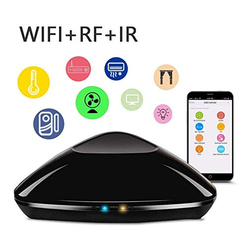 FRUZAZ Smart Home Aappliances Universal Remote Control WiFi Infrarot-Funkfrequenz für iOS, Android Smartphone, Tablet Home/Sleep/Wake Mode Universal Remote Control
