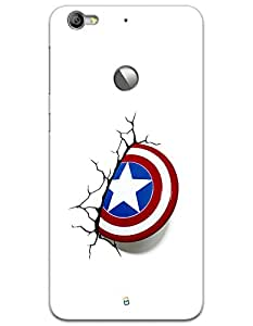 LeTV Le 1s Cases & Covers - Captain America's Shield Case by myPhoneMate - Designer Printed Hard Matte Case - Protects from Scratch and Bumps & Drops.