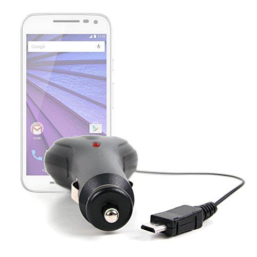 DURAGADGET Cargador Mechero Coche Para Motorola Moto G ( 3ª Generación ) / X Pure Edition / X Style / X Play - Con Cable