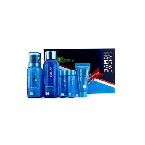 Active Emulsion (Laneige - Homme Active Water Moisturizing Duo Set: Cleanser + 2x Emulsion + 2x Skin Refiner - 5pcs)