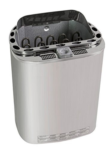 Well Solutions Premium Dampf Bio Kombi Sauna Ofen 6 KW Scandia mit ca. 20 Kg. Olivin - Diabas Saunasteine
