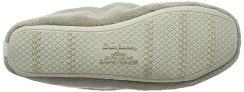 Dearfoams Microfiber Terry Moccasin With Memory Foam, Chaussons femme Silver (Pewter 00028)