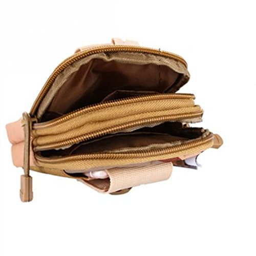 Tactical MOLLE EDC Tasche Kompakt Outdoor Mehrzweck-Utility Gadget Werkzeug Gürtel Taille Pack Wee Tasche für Camping und bushcraft Braun