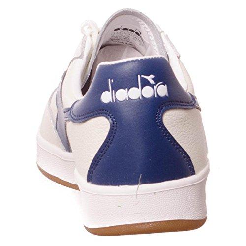 Diadora B.Elite L, Chaussures de Gymnastique Homme White/Saltire Navy