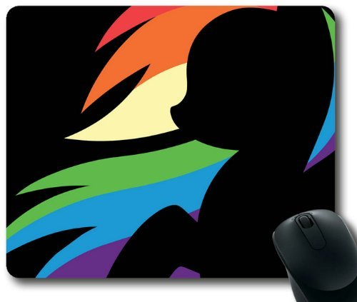 Cartoons Rainbow Dash My Little Pony Friendship is Magic Mouse Pad, Rectangle Mousepad Designed by the Micase (Dash Rainbow Cartoon)