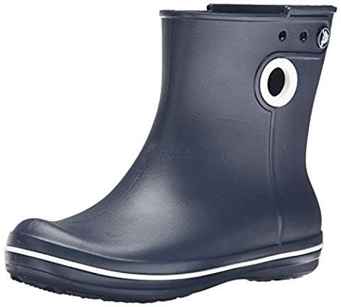 Crocs Women's Jaunt Shorty Warm Lining Rain Boots, Blue (Navy), 6 UK