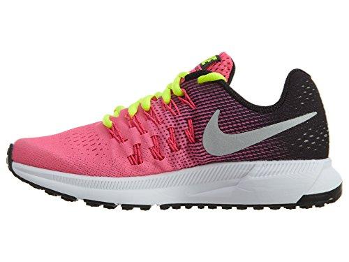 Nike Zoom Pegasus 33 (Gs), Chaussures de Course Fille Rosa (Hyper Pink / Metallic Silver-Black-Volt)