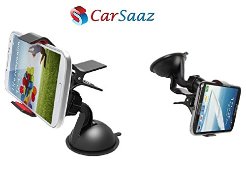 CarSaaz Car Mobile Holder 360 degree rotating - with powerful Suction guarantee