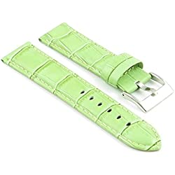 StrapsCo Green Padded Croc Leather watch Strap size 30mm