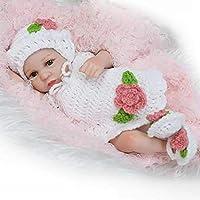 Vida Real Lindo Pequeño Realista Bebé Muñeca Completa Silicona Bebé Niña Juguete Niños Durmiendo ...