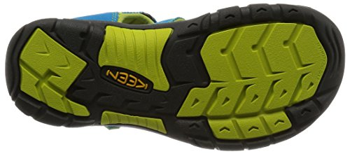 Keen Newport H2 - Sandales Bout ouvert mixte enfant Turquoise (Hawaiian Blue/Green Glow)