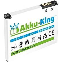 Akku-King Akku ersetzt Motorola BX40 - Li-Ion 800mAh - für Razr V8, Razr2 V8, Moto U9, ZN5