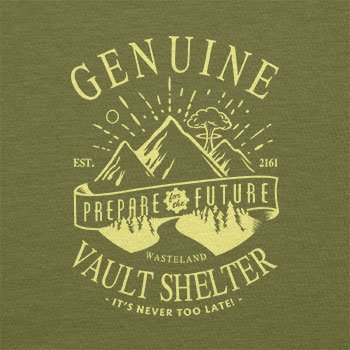 TEXLAB - Genuine Vault Shelter - Herren T-Shirt Oliv