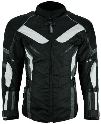 Heyberry Touren Motorrad Jacke Motorradjacke Textil schwarz grau Gr.L - 2