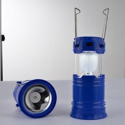 Stretch camping lights, lampe de poche LED à double usage, charge solaire extérieure, éclairage multifonction USB portable